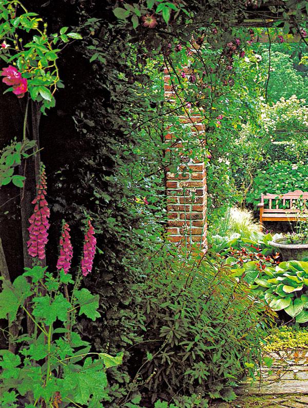 Uzatvorená záhrada v historickom jadre mesta