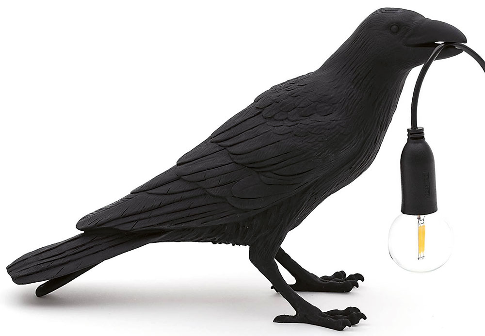 Bird Lamp Waiting, Seletti, stolová lampa, 105,77 €,