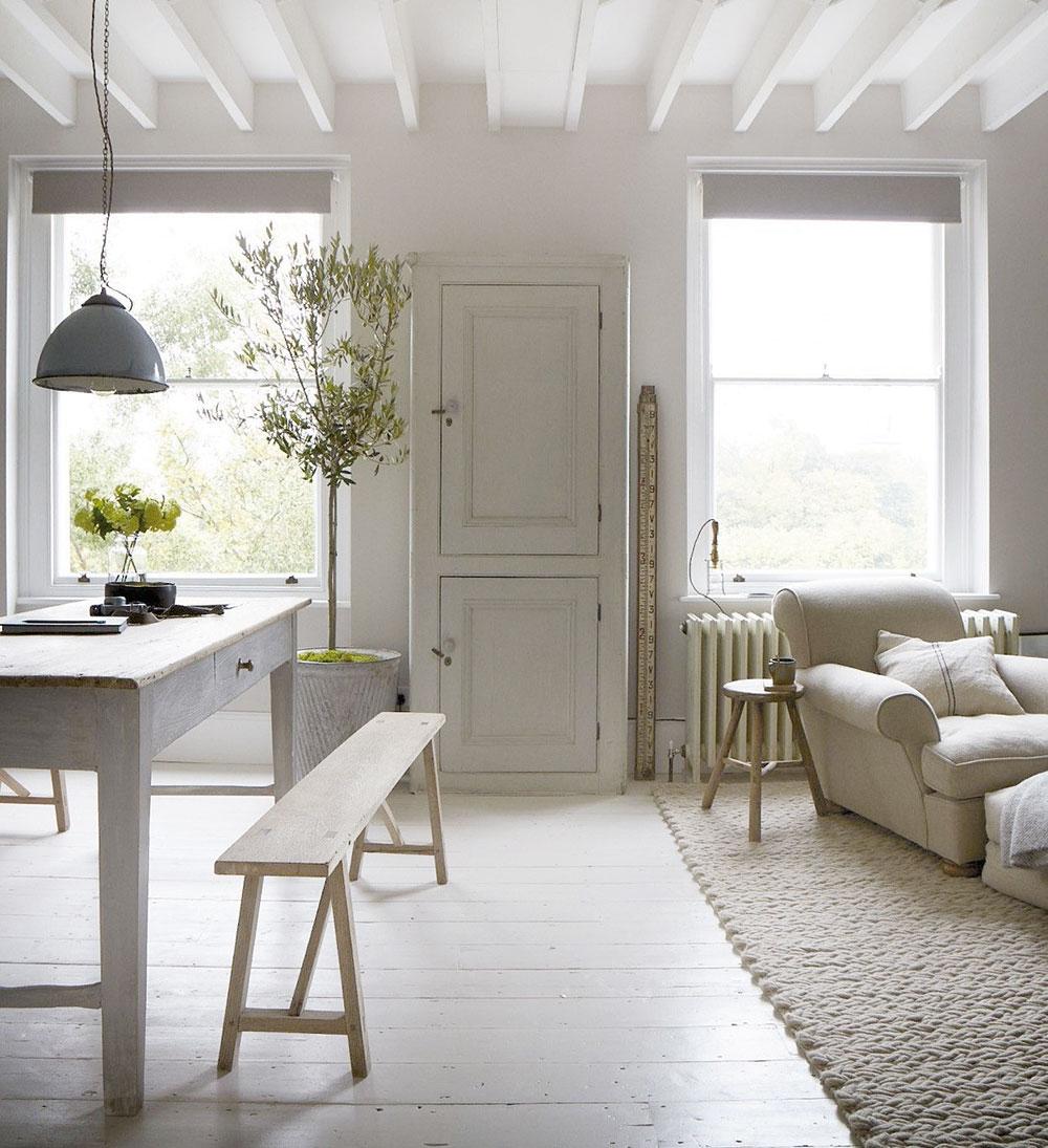 biela podlaha