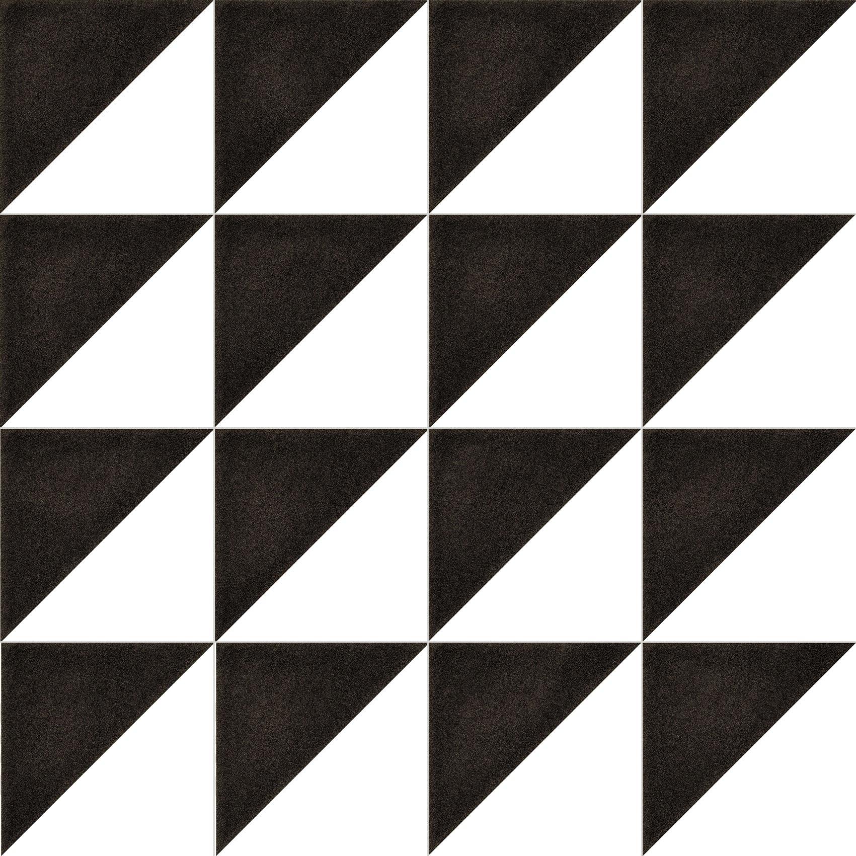 Matná čierno-biela retro dlažba