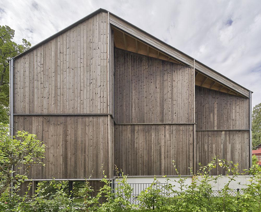 drevená fasáda domu