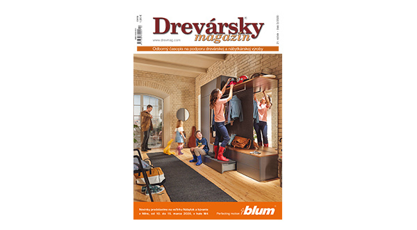 5. cena: 1 x ročné predplatné časopisu Drevársky magazín