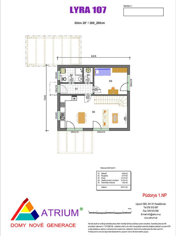 rodinný dom Lyra 107