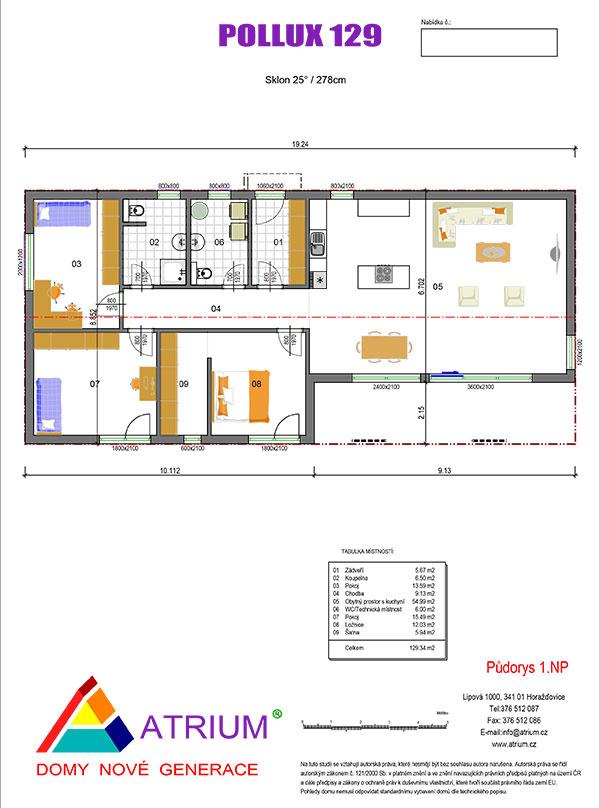 rodinný dom Pollux 129