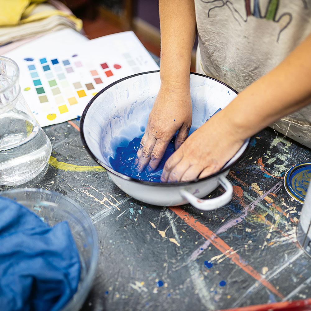 farbenie textilu