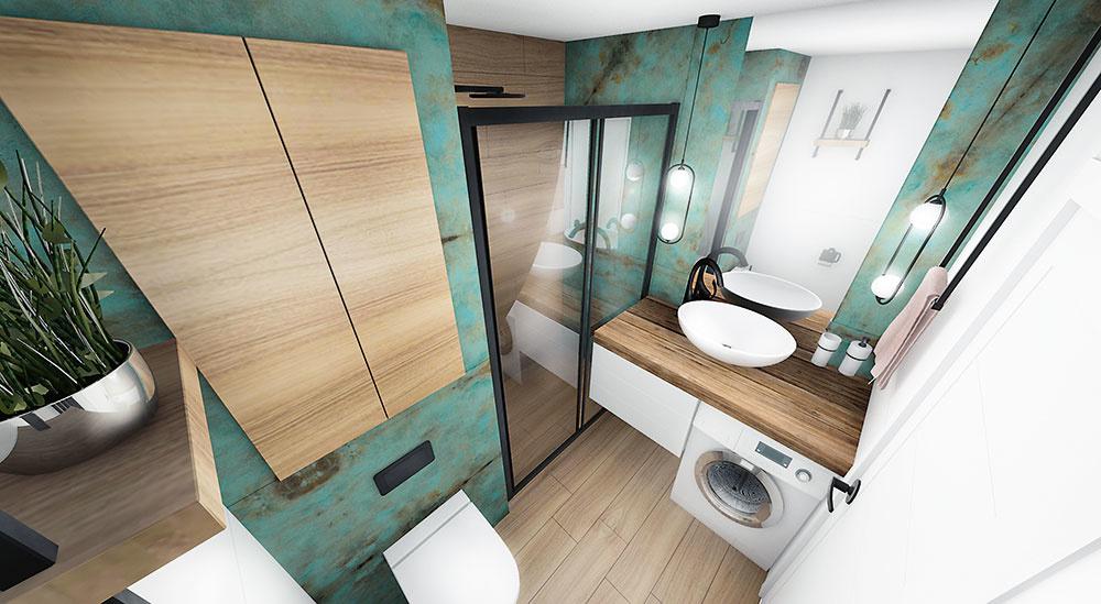 Veľkorysý sprchový kút dá majiteľom zabudnúť na menšie rozmery kúpeľne. Zástena a dvere z číreho skla sú najlepšími spôsobmi, ako vytvoriť ilúziu väčšieho priestoru.