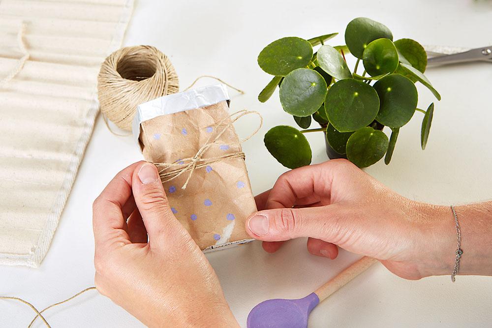 výroba kvetináča z tetrapaku