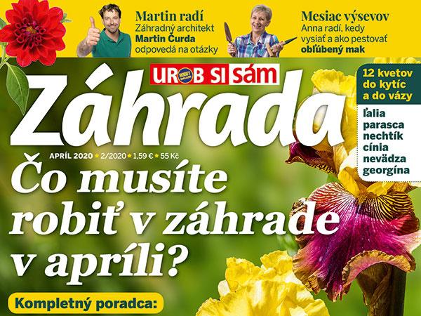 Časopis Záhrada Apríl 2020 v predaji