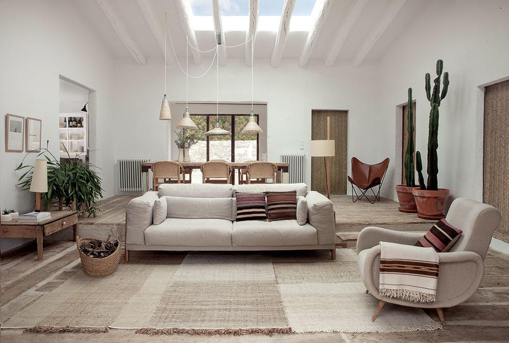 Ručne viazaný koberec Tres Nanimarquina, dizajn Nani Marquina, konope, vlna, plsť, od 1 255 €, konsepti.com