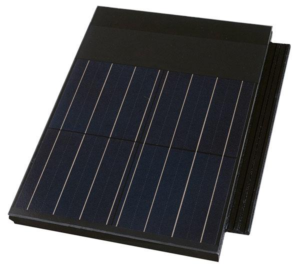 Terran Generon od firmy Mediterran Slovakia je strešná krytina sintegrovaným solárnym článkom – ide oestetické aj ekologické riešenie, ktoré inovatívne využíva obnoviteľný zdroj energie. Nosným podkladom je farbená betónová škridla spovrchovou ochrannou vrstvou, presnými rozmermi avysokou pevnosťou, vodonepriepustná amrazuvzdorná. Na povrchu škridly je integrovaný solárny článok tak, že zásadne nemení vzhľad aneovplyvňuje spôsob ukladania ani ochrannú funkciu krytiny. www.terran.sk