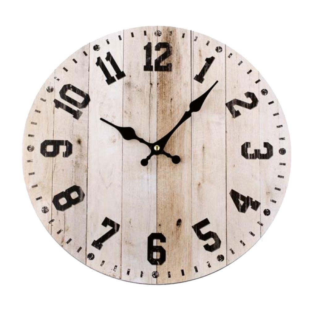 Drevené hodiny na stenu, priemer 34 cm, 11,66 €, novaline.sk