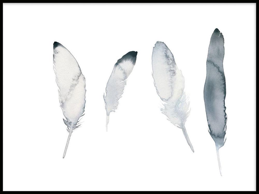Plagát Feathers, 21 × 30 cm, 18,95 €, nordicpostercollective.com