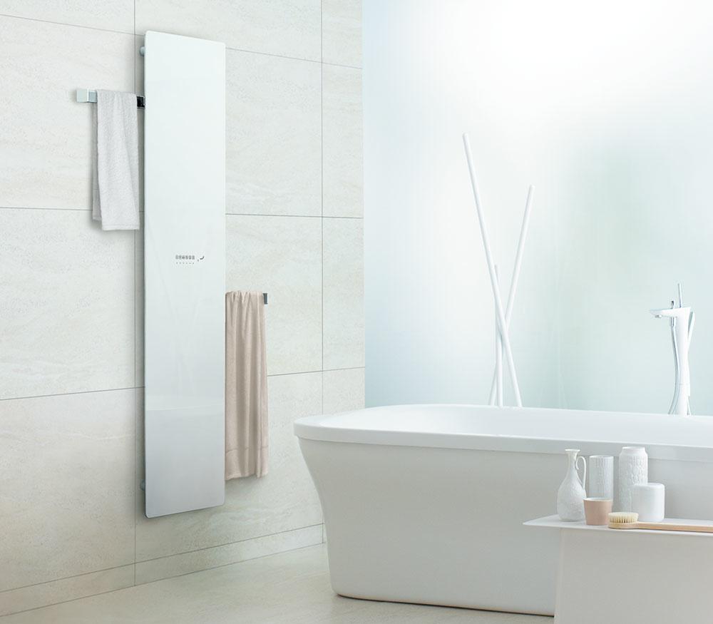 Dizajnový sklenený radiátor Zehnder Deseo Verso