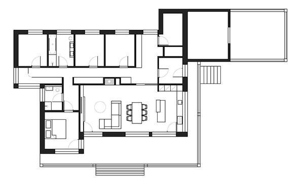 Návrh interiéru drevostavby
