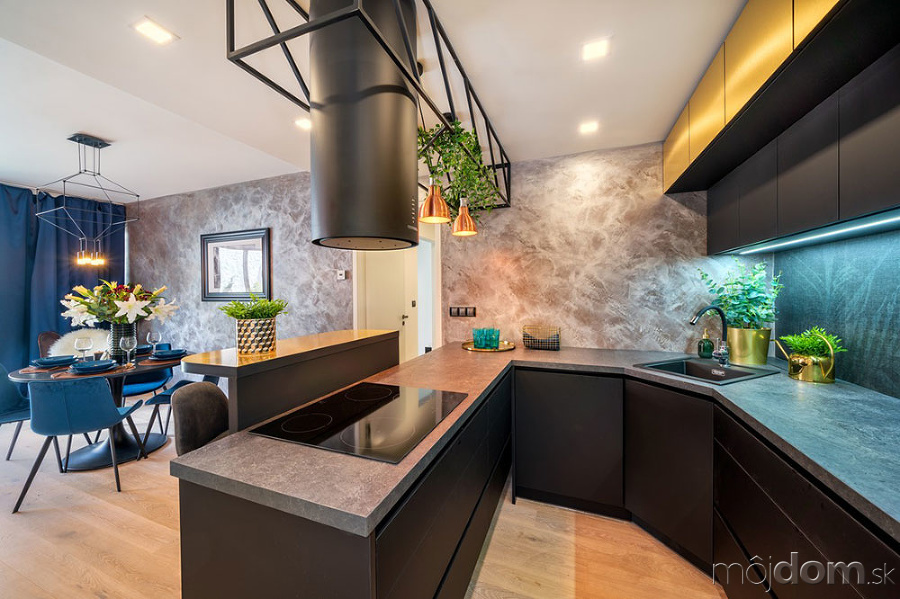 Moderný pánsky byt s rastlinnými dekoráciami