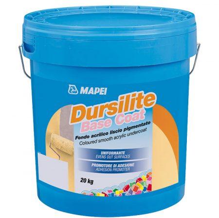 Základný náter (penetrácia): Dursilite base coat je hladký akrylátový farebný základný náter s dobrou krycou schopnosťou. Po nanesení zjednotí nasiakavosť povrchu a zlepšuje prídržnosť farieb z radu Dursilite. Je k dispozícii v širokej škále farebných odtieňov.
