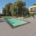 Kompozitné dosky Twinson sú protišmykové, a preto ich možno použiť aj v okolí bazénov.