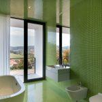 zelená kúpeľňa