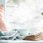 pohodlný čitateľský kútik