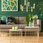 zelená farba v interiéri