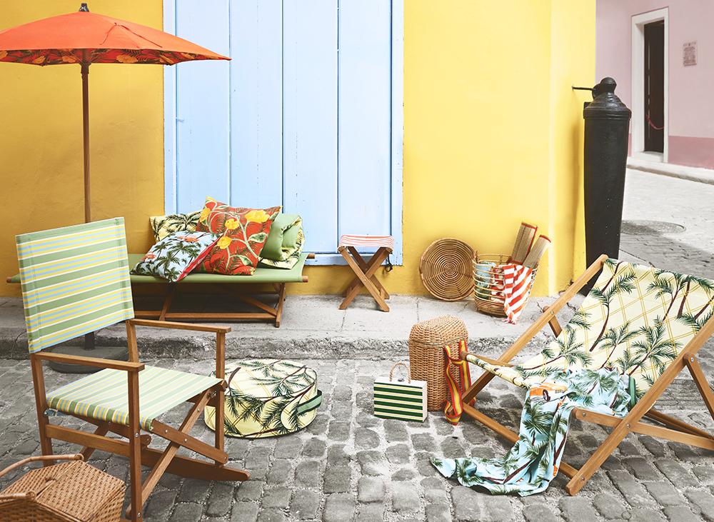 záhradný nábytok na terase