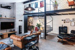 Otvorený a zábavný pánsky loft v industriálnom štýle