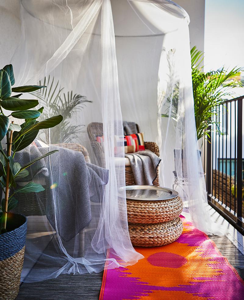 balkón pre odpočinok