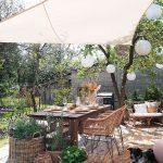 záhradná terasa s posedením