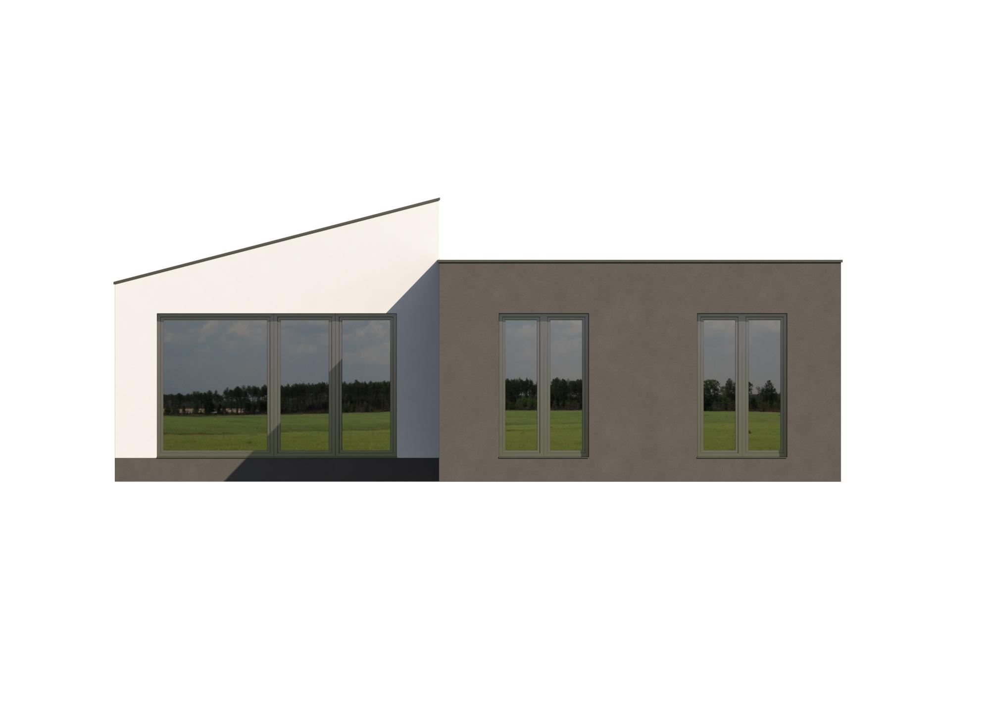 projekt rodinného domu Bungalov 1701