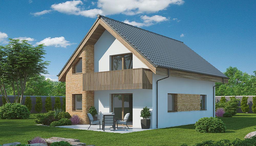 Projekt rodinného domu Blanka 61