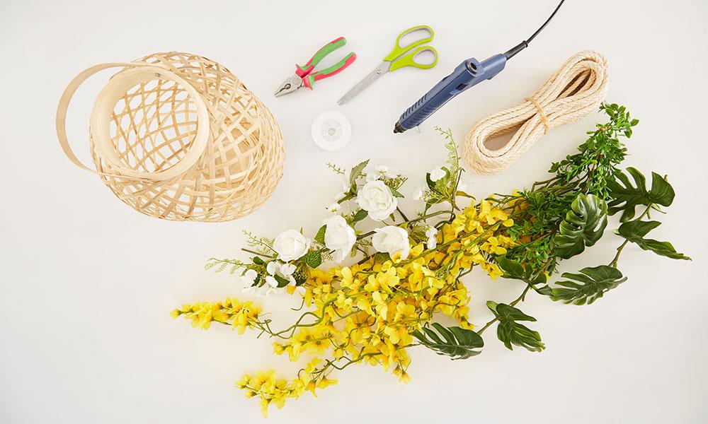 materiál na výrobu záhradných lampášov