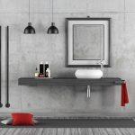 minimalistická betónová kúpeľňa