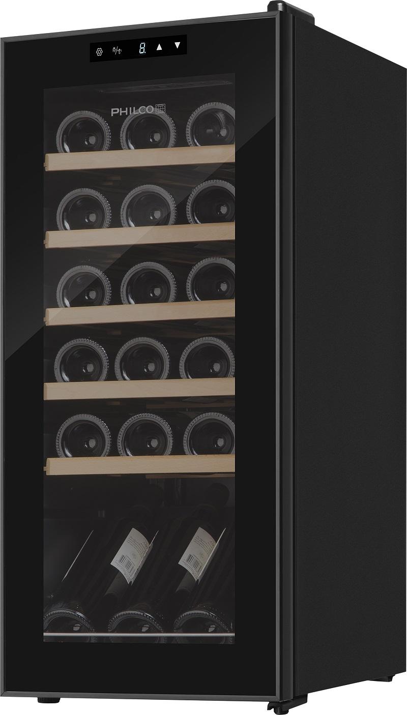 Vínotéka PHILCO PW 18 KF energetickej triedy A s automatickým odmrazovaním