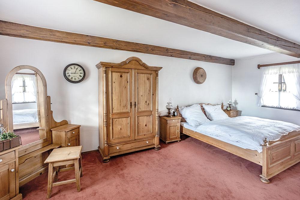 spálňa na chalupe