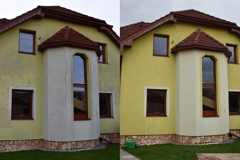 Ekologické čistenie fasády bez rizika jej poškodenia