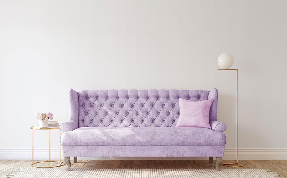 fialová sedačka