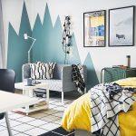 farebné bloky v interiéri