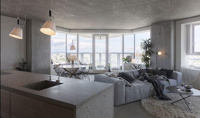 Drsný byt s panoramatickým výhľadom na Bratislavu