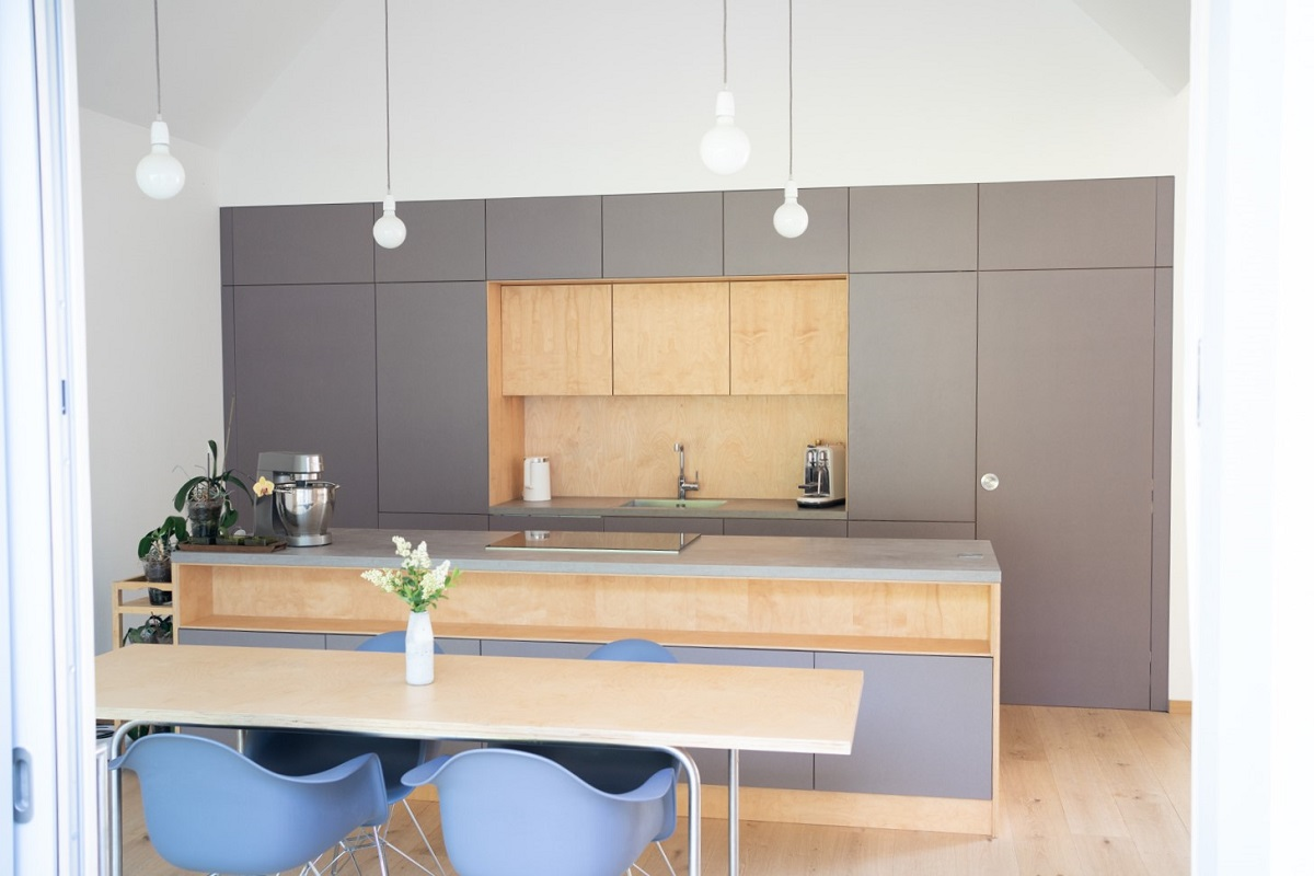 kuchyňa v drevodome Marchegg