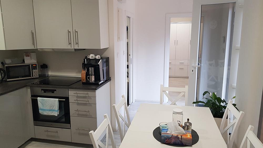 kuchyňa v modulovom dome