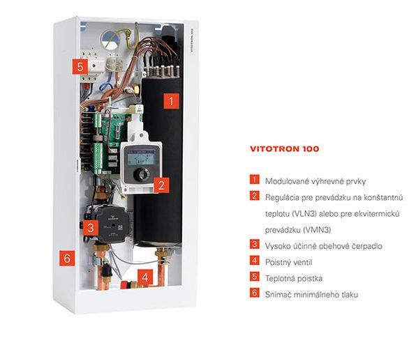 Elektrokotol Vitotron 100, rez produktu.