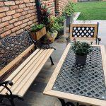 záhradné posedenie na terase domu