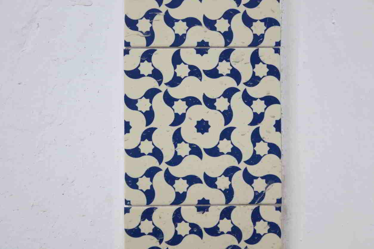 kúpeľňové obkladačky modrobiele
