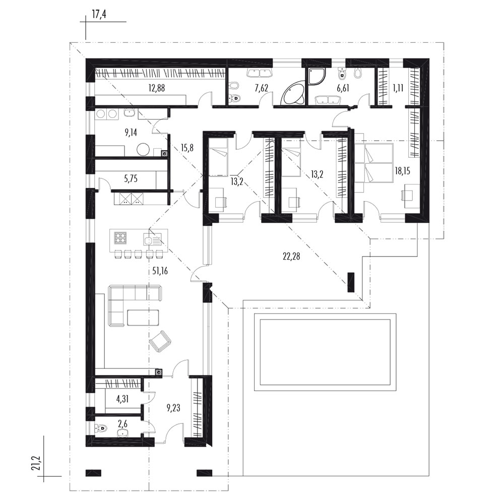 Murovaný rodinný dom JAVIJANI 123