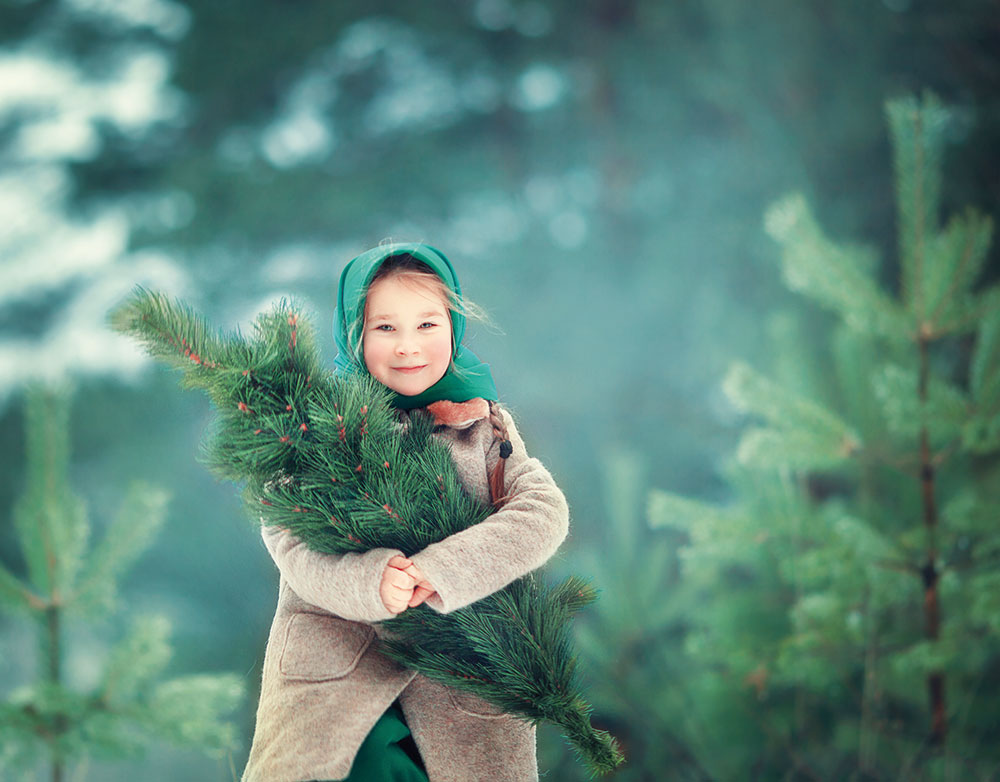 dievčatko a stromček