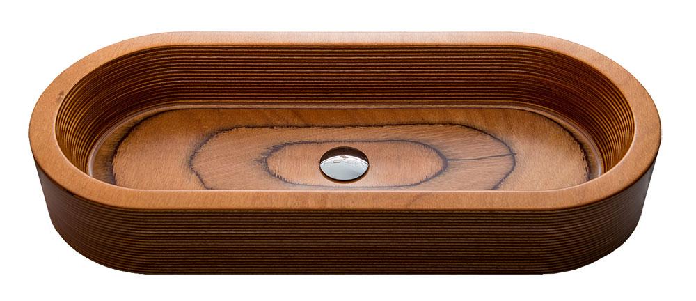 Ručne vyrobené drevené umývadlo