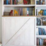 Knižnica v obývačke