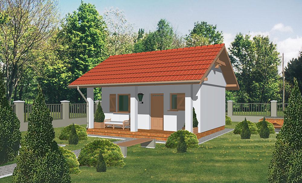 Projekt prízemného rodinného domu Theta 37