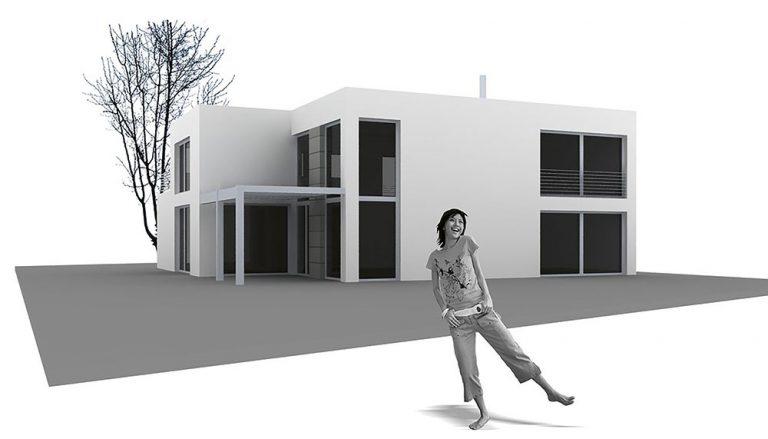 Projekt rodinného domu Black & White small