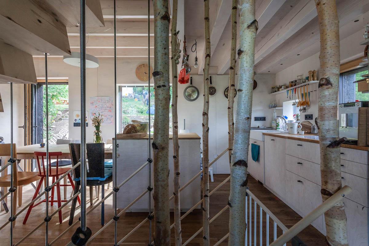 Drevostavba kuchyňa